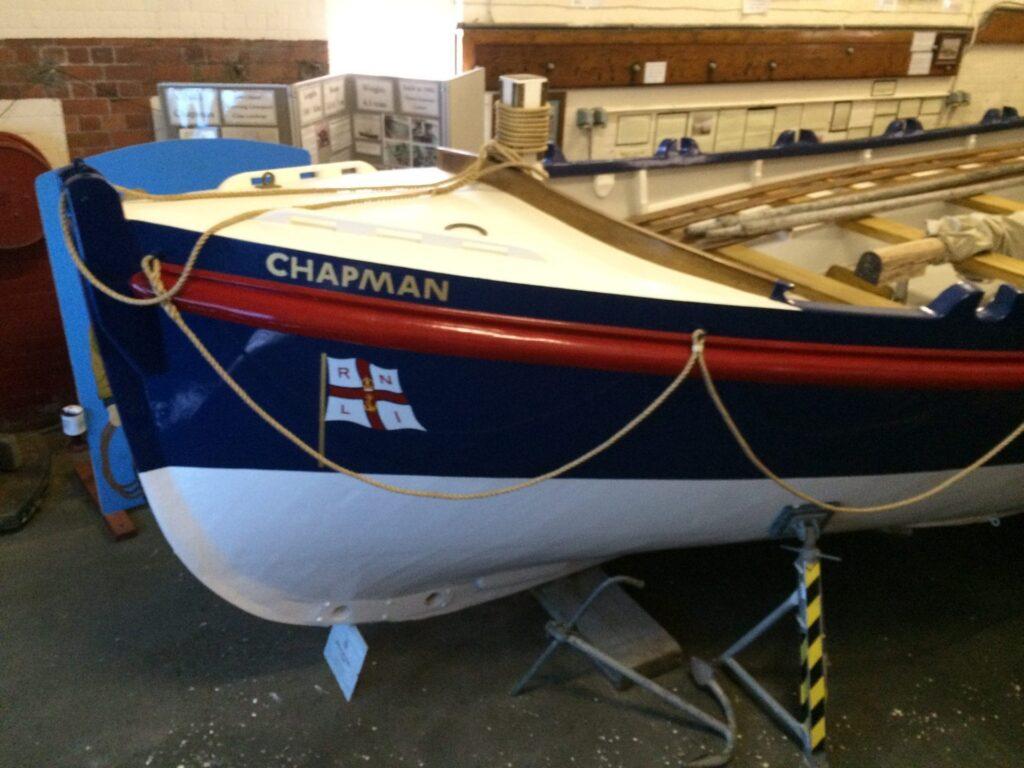 Restored Chapman Lifeboat at Lytham Windmill Museum