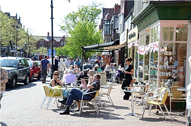 Pavement Cafes on Clifton Street, Lytham town centre