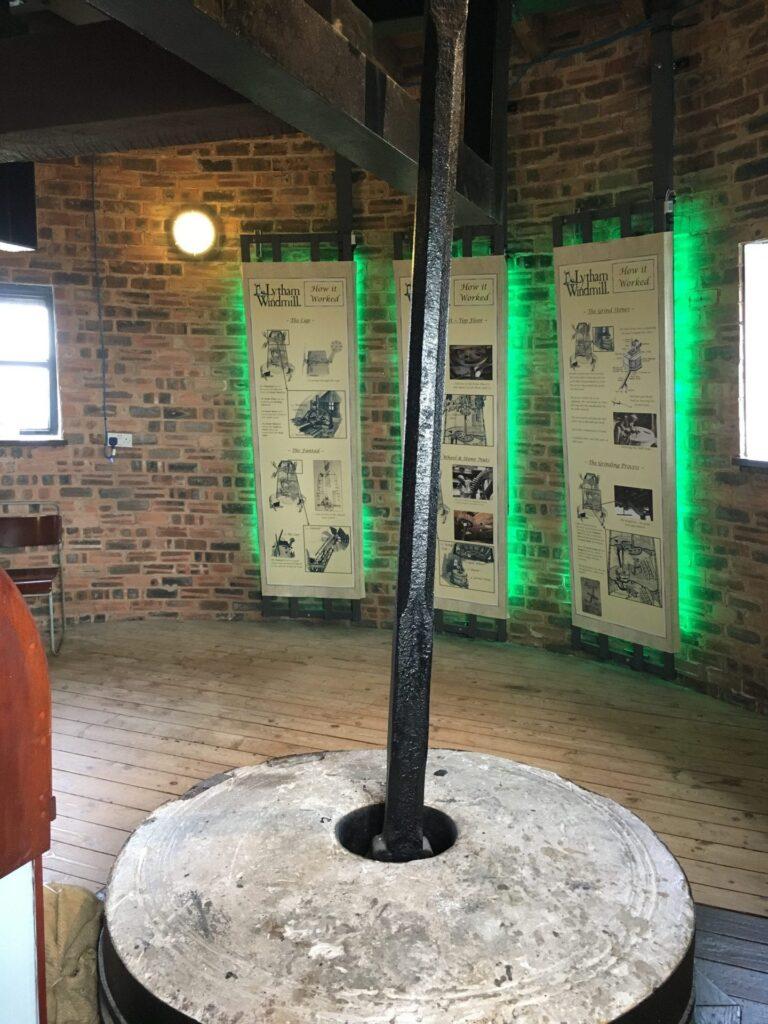 Displays inside Lytham Windmill