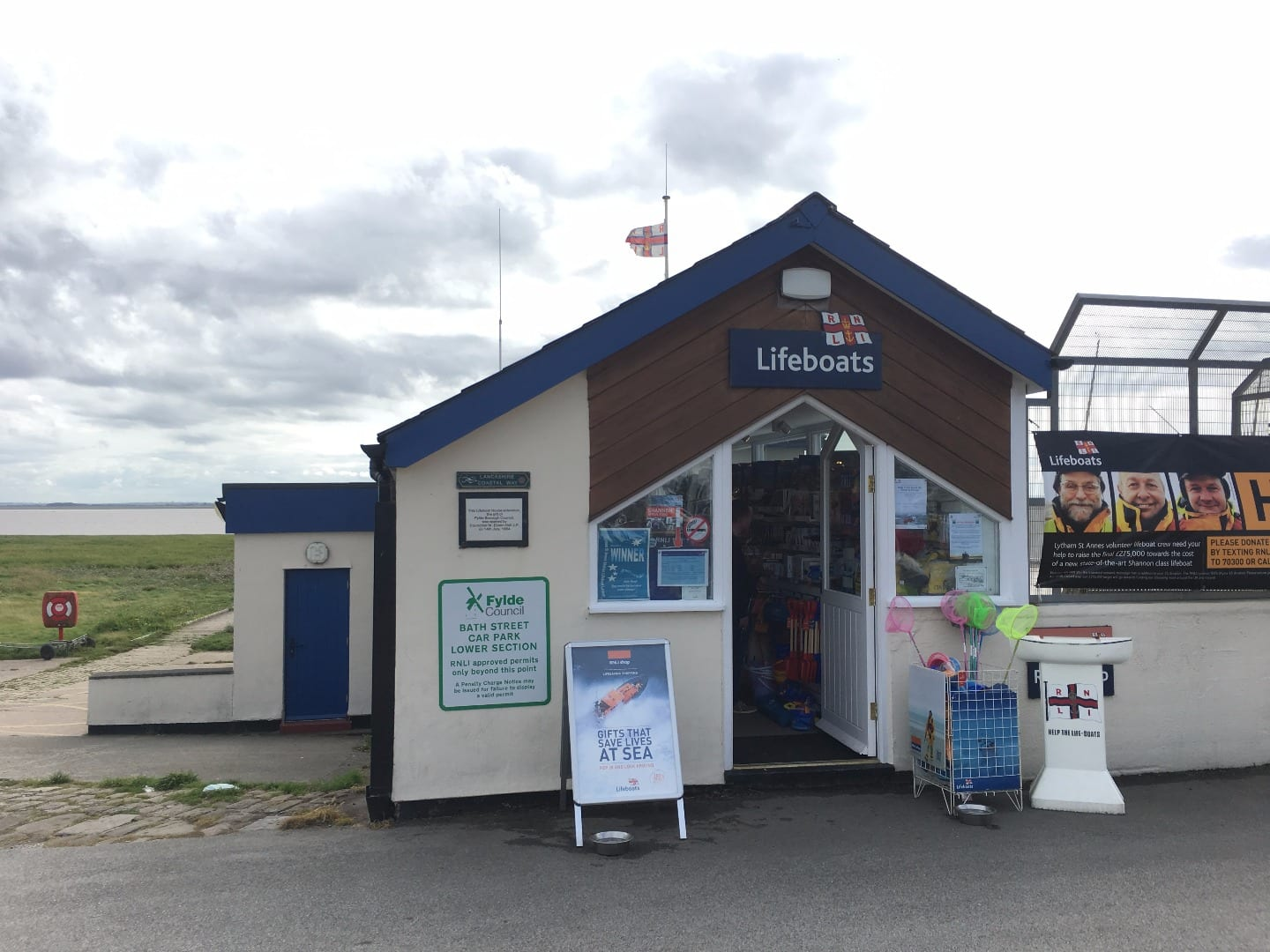 RNLI lifeboat station at Lytham seafront
