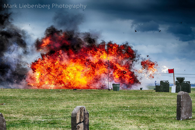 Battle reenactment at Lytham1940's Festival - Wartime Weekend